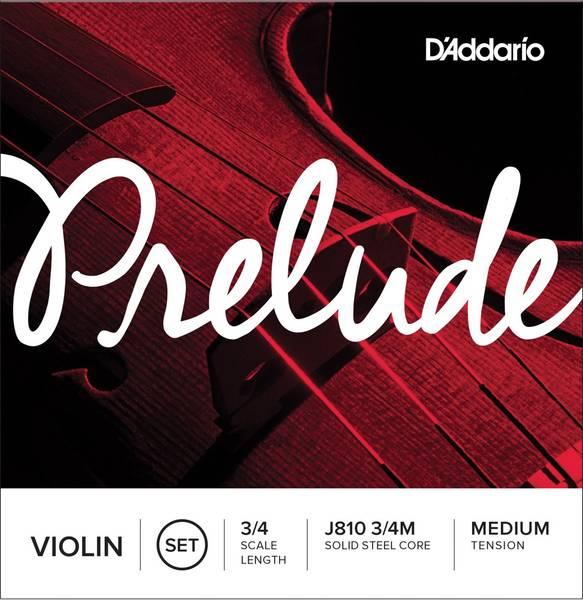 D'Addario Strengesett Violin  J810 3/4-fele Medium Tension